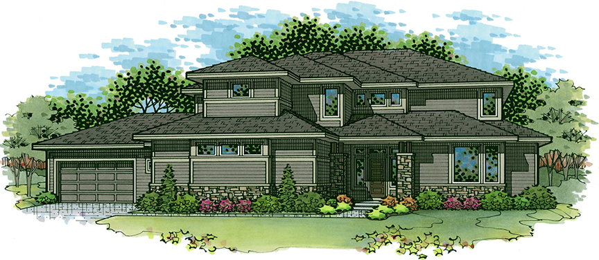 Catalina 4 floor plan 1.5 story home in The Enclave at Terrybrook Farms