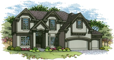 Bailey floor plan two story home in Terrybrook Farms