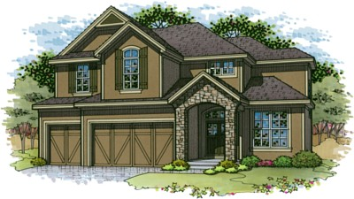 Cooper Floor Plan two story home in Terrybrook Farms