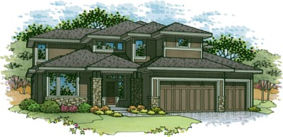 Catalina floor plan 1.5 story home in Terrybrook Farms