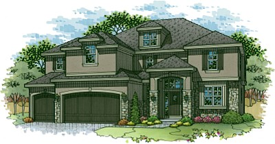 Avalon floor plan two story home in Terrybrook Farms
