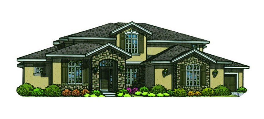 Seranna floor plan 1.5 story home in The Enclave at Terrybrook Farms