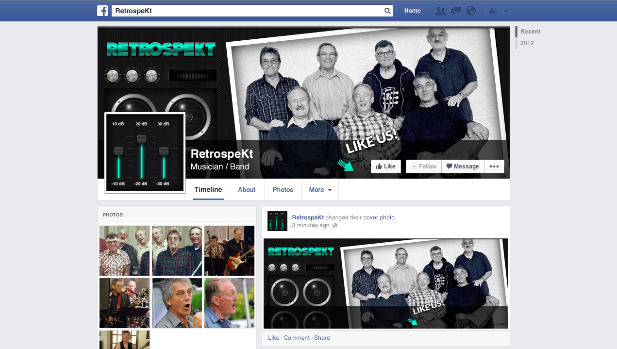 Social Media Designer in Adelaide  - Facebook design for band