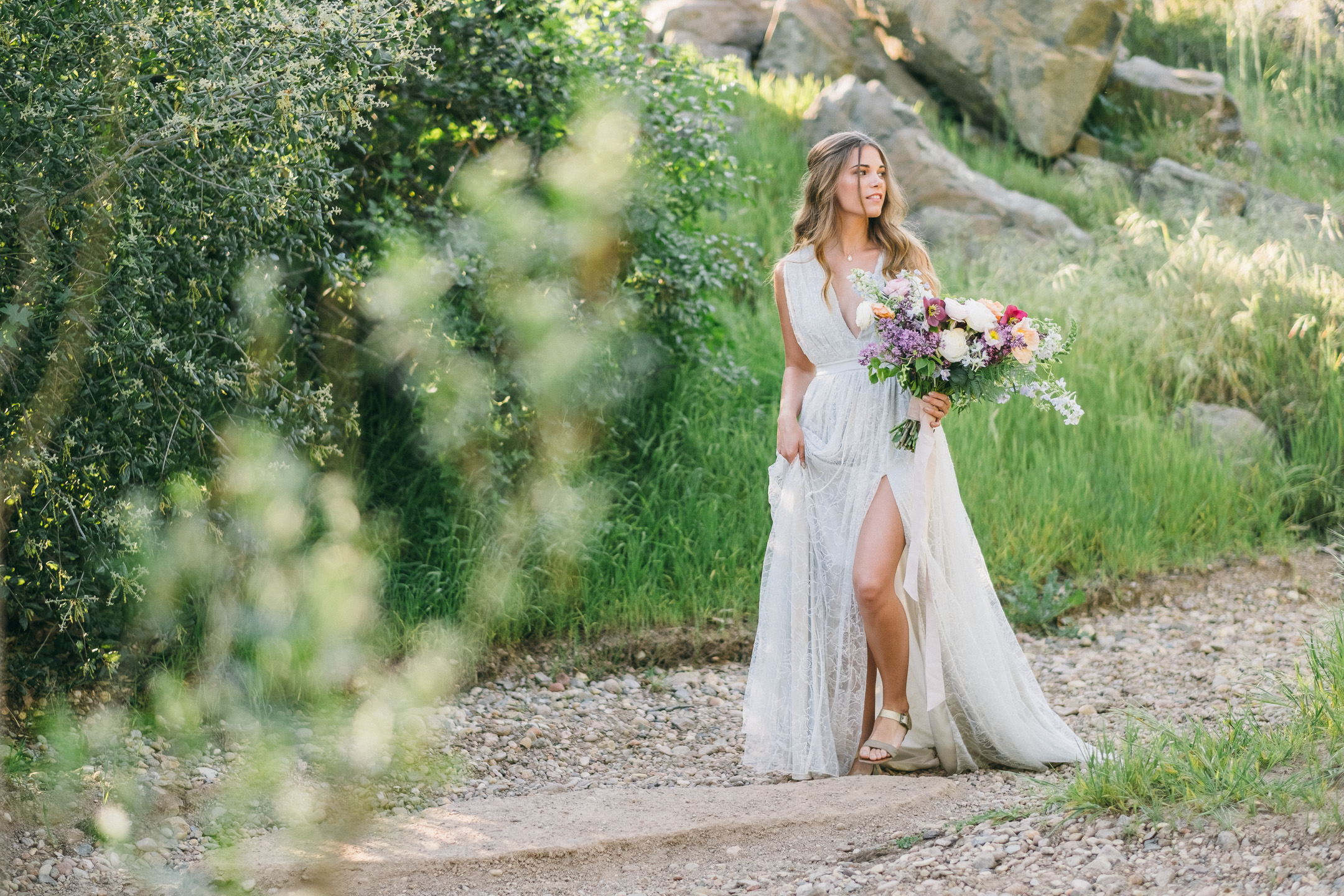 spring bridal inspiration shoot in mission trails, san diego with alexandra grecco dress