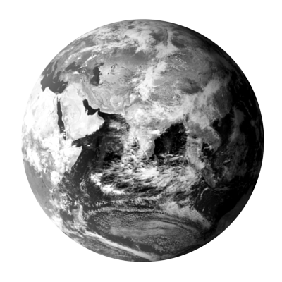 BLACK-AND-WHITE GLOBE