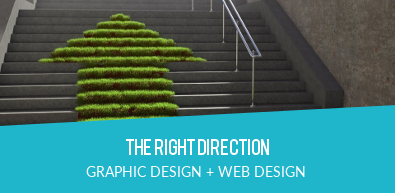 THE RIGHT DIRECTION | GRAPHIC DESIGN + WEB DESIGN