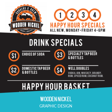 WOODEN NICKEL | GRAPHIC DESIGN + BRANDING