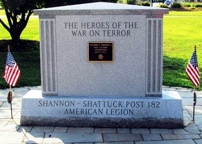 Honor veterans or another group with a headstone-like monument