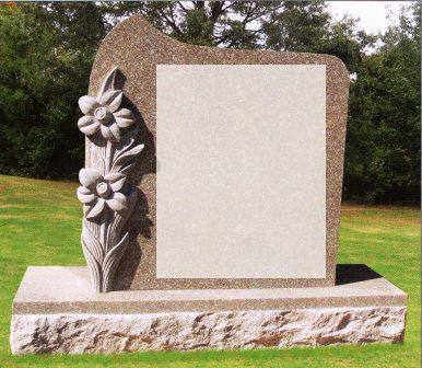 We carry specially designed headstones as well as more simple ones at Daley-Connerton Memorial Co