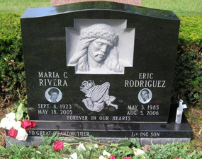 We have headstone designs for every religious preference