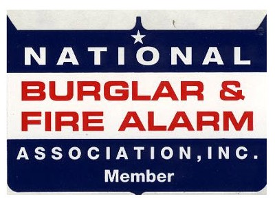 maximum sound and security is part of national burglar and fire alarm association