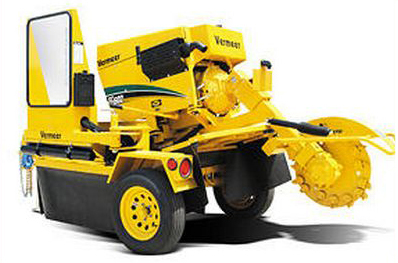 This Vermeer stump grinding machine is part of our service fleet