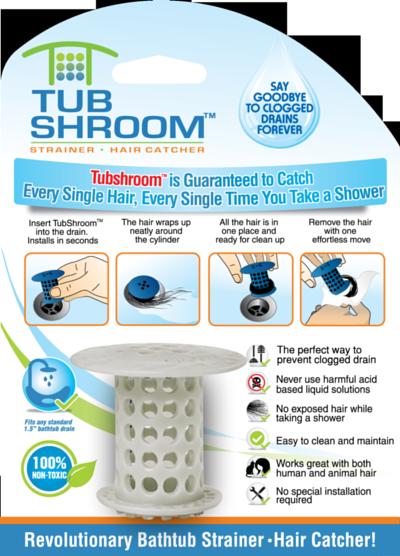 TubShroom Hair Snare White