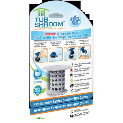 TubShroom Hair Catcher Gray