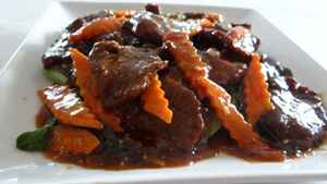 A wide variety of entrees with or without meat on our Chinese food menu