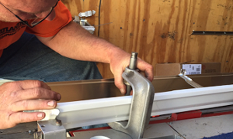 Cut and drop gutter service available for Bristol buiders and homeowners