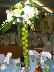 Fancy banquet hall centerpiece