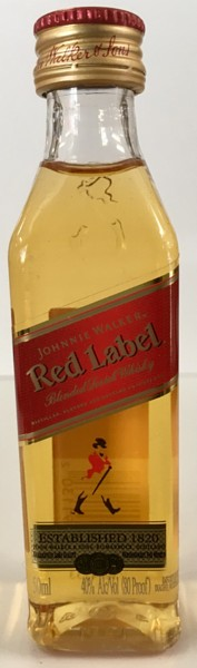 Mini bottle Johnnie Walker Red Label Scotch