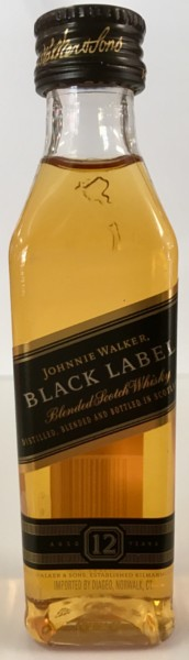 Mini bottle Johnnie Walker Black Label Scotch