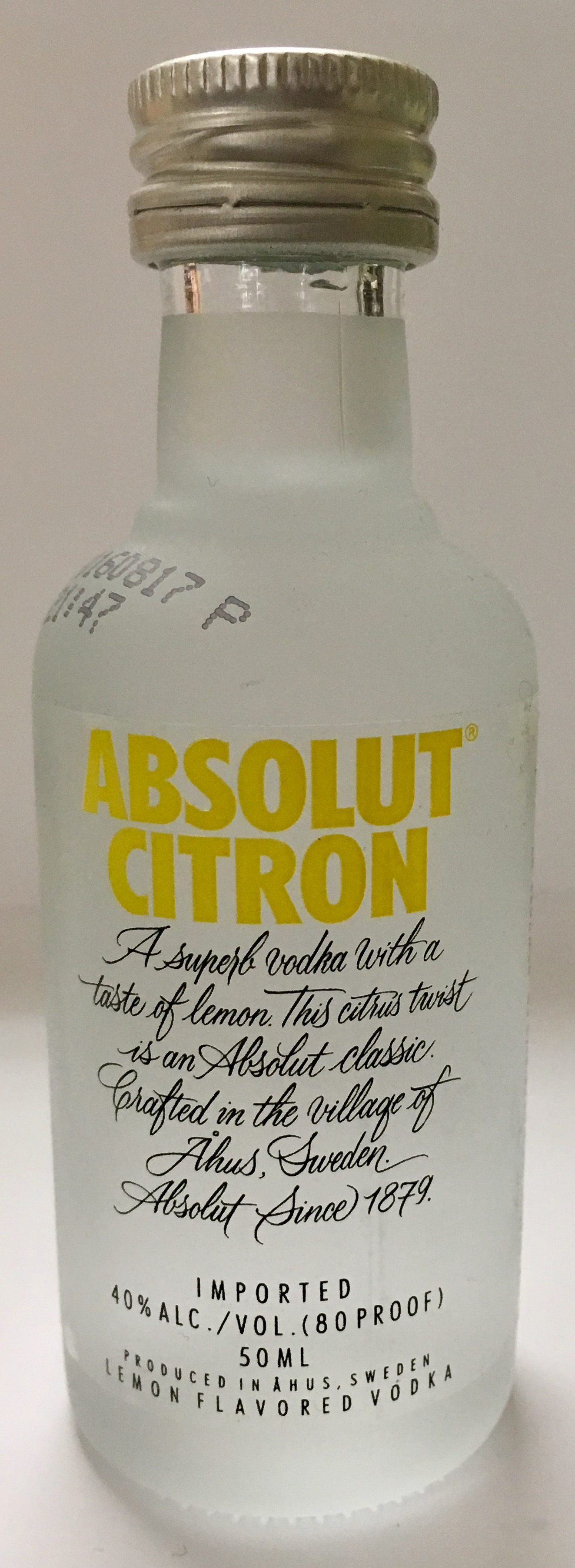 Mini bottle Absolut Vodka