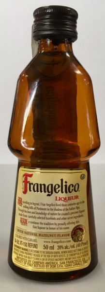 Mini bottle of Frangelico Hazelnut