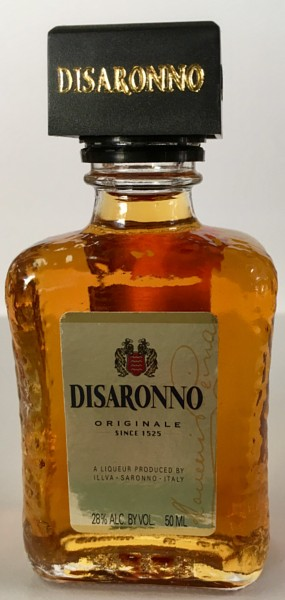 Mini bottle of Amaretto DiSaronno