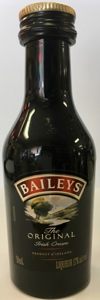 Mini bottle of Baileys Irish Cream
