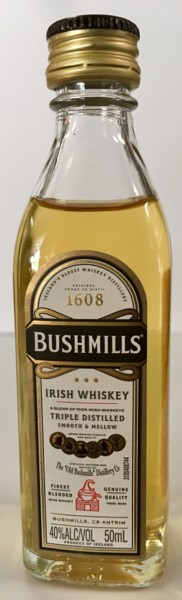 Mini bottle Bushmills Irish Whiskey