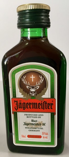 Mini bottle of Jagermeister