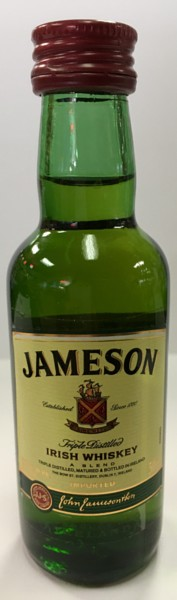 Mini bottle Jameson Irish Whiskey