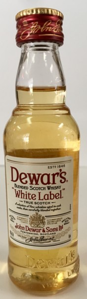 Mini bottle Dewar's White Label Scotch