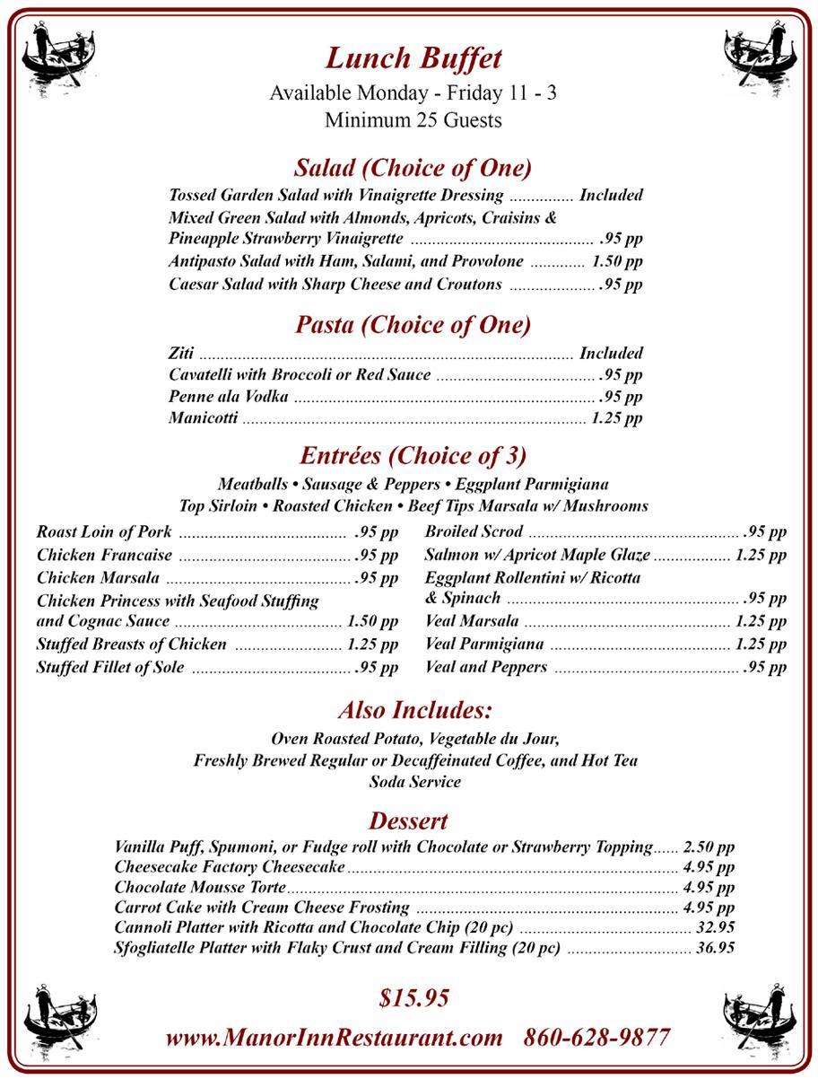 Wedding menu ideas lunch restaurant brunch southington manor inn wedding menu ideas lunch lunch buffet southington manor inn forumfinder Image collections