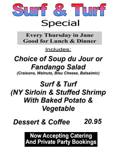 June Special Surf and Turf