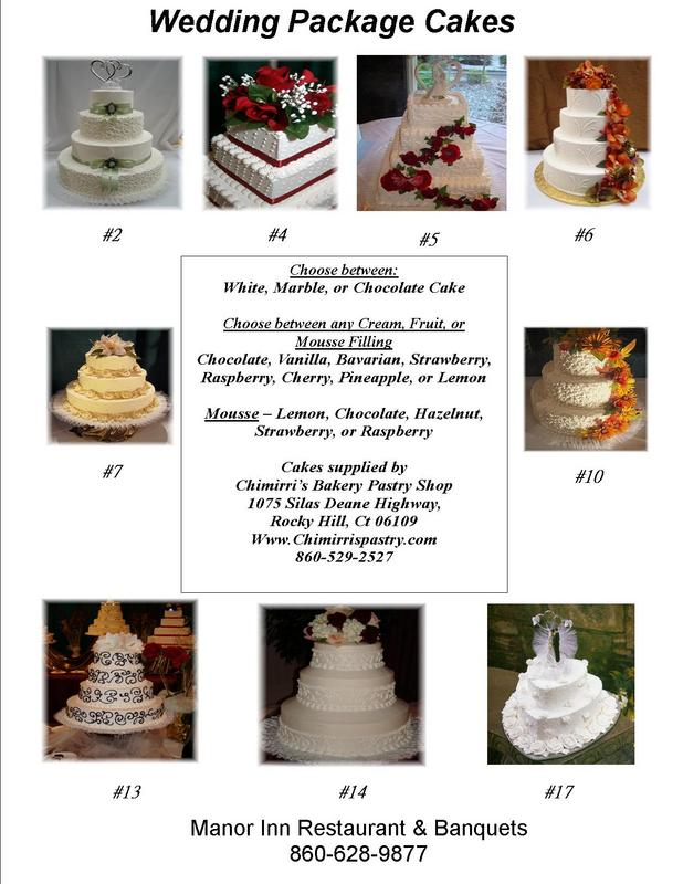 wedding cakes at the manor inn