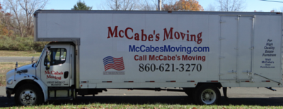 A McCabe's Moving truck is ready to serve you in the Bristol area