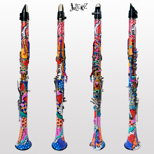 Custom painted clarinet by juleez for How much is a used yamaha clarinet worth