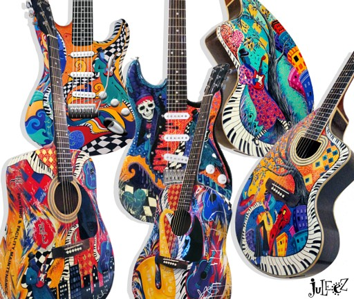 Painted Acoustic Guitars For Sale