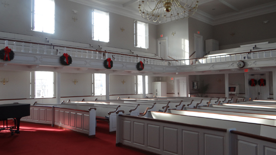 Inside view of Second Baptist Church