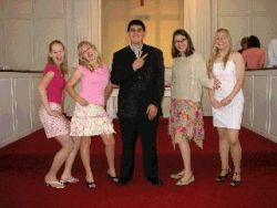 5 young worshippers at Second Baptist Church, Suffield, CT