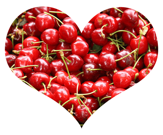 Cherries in Heart