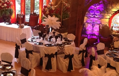 Banquet tables at Bill Miller's Castle in Branford