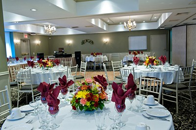 Delightful banquet room at the Manor Inn in Southington