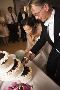 We will assist you with old traditions and new at your wedding reception