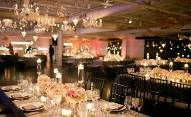 Beautiful banquet room for a wedding at The Loading Dock, Stamford, CT
