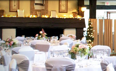 Photo of a section of a large banquet room at the Golf Club of Avon
