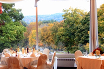 A view from a banquet table at Glastonbury Hills Country Club