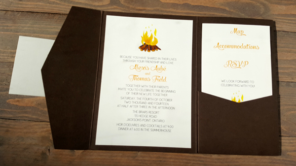 Folded Pocket Wedding Invitation