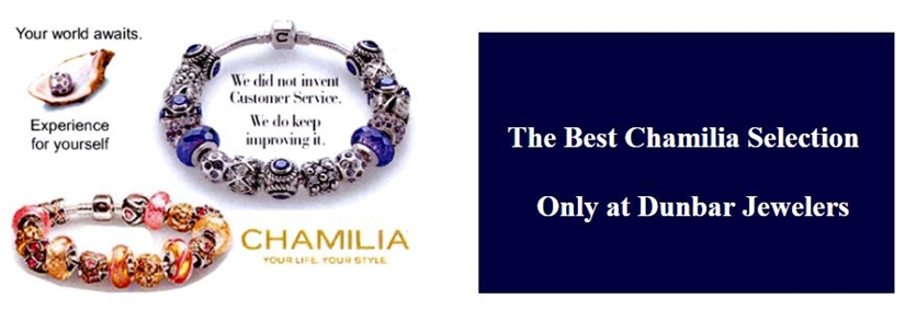 Chamilia bracelents and beads at Dunbar Jewelers