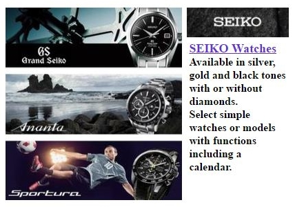 Get your state of the art SEIKO watch at Dunbar Jewelers