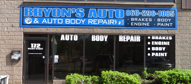 Bryon's Auto & Auto Body Repair on Wethersfield Ave. in Hartford
